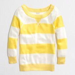 {J.Crew Factory} Striped Crew Sweater
